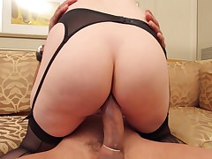 Big Cock Ramon destroys phat ass white tranny tight hole