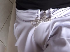 New white skirt