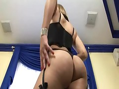 Shemale Plays With Her Thick Cock