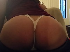 BIG ASS PAWG CD in WHITE THONG