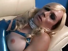 Blue Latex Shemale